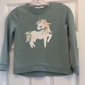 H&M unicorn sweatshirt